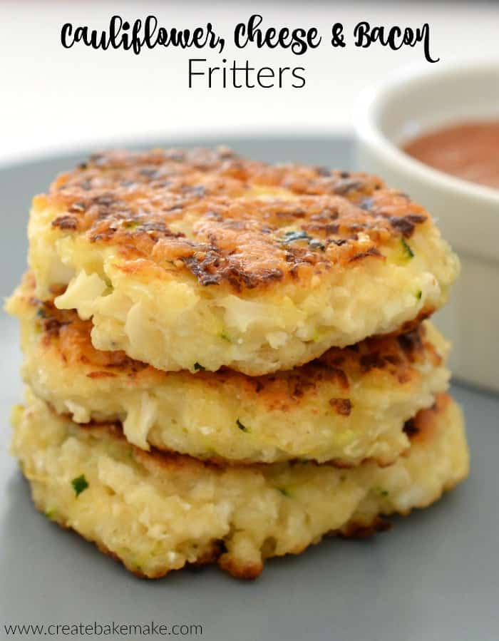 10 delicious breakfast ideas for easier mornings! Cauliflower and bacon fritters