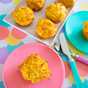 carrot, corn cheesee and chive muffins,